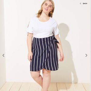 ANN TAYLOR LOFT Striped Wrap Skirt